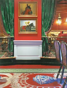 Distinctive Dorothy Draper Design: Colors, Contrasts & Floral Patterns.  http://www.greenbrier.com