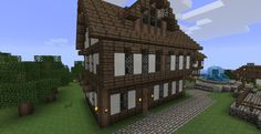 Minecraft village house Medieval Seaside Village/Town Minecraft Project Village house design Village houses Minecraft medieval house