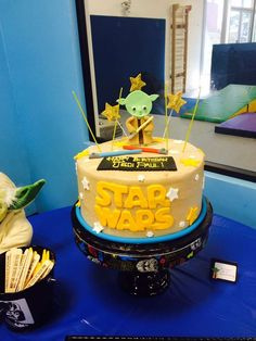 Star Wars birthday party cake! See more party ideas at CatchMyParty.com!