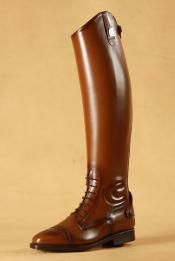 Red leather patent Italian riding boots Made to Measure Italian ...