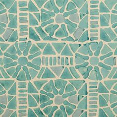 Serena & Lily fabric swatch (mosaic tile motif)