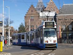 The 5 tram in Amsterdam. Look, its smiling at you.