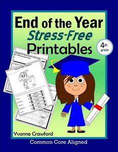 End of the Year NO PREP Printables - Fourth Grade Common Core $ 28% off 5/3 and 5/4