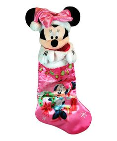 Take a look at this Minnie Satin Stocking by Disney on #zulily today! #Christmas #Disney http://www.zulily.com/invite/banderson249