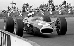 ... during the 1967 British Grand Prix in a Lotus 49 Photo: ALAMY