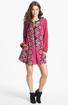 Madison Marcus Print Silk Shirtdress | Nordstrom