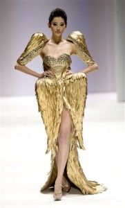 Chinese designer Zhang Jingjing Haute Couture Collection during the China Fashion Week 2013Credit: AP Photo/Andy Wong
