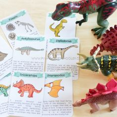 Free Dinosaur Fact Cards and Ten Frame Cards from The Pinay Homeschooler