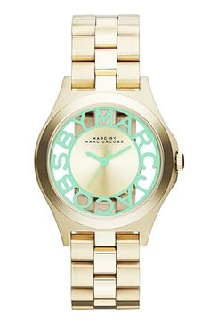 MARC BY MARC JACOBS 'Henry Skeleton' Bracelet Watch, 34mm available at #Nordstrom