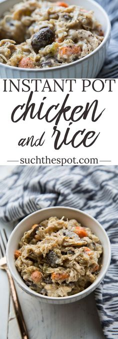 I threw every Chicken and Rice recipe out the window when I discovered this one. This Instant Pot Chicken and Rice is easy, creamy and as delicious as comfort food can get. Inspired by the Cracker Barrel dish, this one is a guaranteed family favorite. Cream Of Mushroom Chicken, Chicken And Brown Rice, Mushroom Soup, Instant Pot Pressure Cooker, Pressure Cooker Recipes, Pressure Cooking, Real Food Recipes, Cooking Recipes, Yummy Food