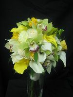 Wedding, Flowers, Bouquet, White, Green, Bridal, Yellow, Orchid, Rose, Ivory, Starbright floral design