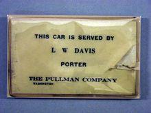 Porter's service card