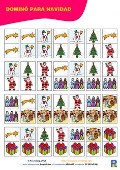 Domino para navidad-vocabulario