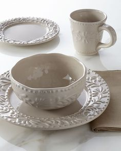 Shop Taupe Bianca Leaf Dinnerware Service at Horchow where you\u0027ll find new lower shipping on hundreds of home furnishings and gifts. & 16-Piece Scroll Dinnerware Service   White food Dinnerware and ...