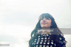 Foto de stock : Portrait of woman looking ahead.