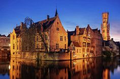 Greetings Card-View from the Rozenhoedkaai, Bruges, Belgium, Europe-Photo Greetings Card made in the USA Best Vacation Destinations, Best Vacations, Bruges, Best Romantic Getaways, Belgium Europe, Europe Photos, We Are The World, Travel Abroad, Best Cities