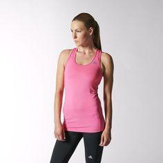 f0721bf251079c adidas PERFORMANCE Techfit Tank Top Shirt T-Shirt Solar Pink Neon Pink  Adidas Damen