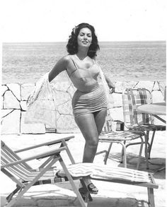 Model Martha Veliz in 1958 at the Riviera Hotel.