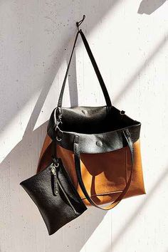 Reversible Vegan Leather Tote Bag -- perfect for travel