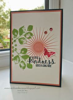 Stampin' Up UK Demonstrator Sarah-Jane Rae Cards and a Cuppa blog: Kinda Eclectic by Stampin' Up!