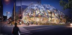 Amazon's development in downtown Seattle is just one piece of the booming environment that the city has become. Like these spheres, many other projects are already under construction in Seattle, home to offices, housing and hotels, and all aimed at getting in on the action as Seattle becomes a leader in the tech industry.Scroll through the following photos to see the current construction on Amazon's campus expansion in downtown Seattle. Photo: NBBJ,  Seattle Design Review Board