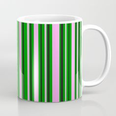 Available in 11 and 15 ounce sizes, our premium ceramic coffee mugs feature wrap-around art and large handles for easy gripping. Dishwasher and microwave safe, these cool coffee mugs will be your new favorite way to consume hot or cold beverages. Green Coffee Mugs, Green Mugs, Unique Coffee Mugs, Coffee Cups, Ticking Stripe, Electric Blue, Tea Mugs, Going Vegan, Grey Stripes