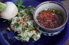 Fresh Asian White Turnip Salad with Thai Sauce - Recipe Detail - BakeSpace.com