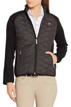 Ariat - Cloud 9 Quilted Shell And Stretch-jersey Jacket - Dark gray - x large