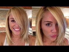 Miley Cyrus Blonde bob. like the cut, hate her. If I ever decide to go shorter again.