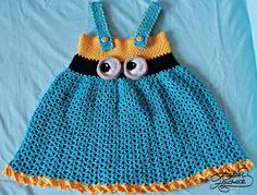 Pattern: Happy baby crochet minion dress