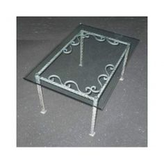 Table wrought iron. cm 50 x 75 x h 45 . 691