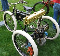 A 1900 Orient Tricycle, one of the first production motorcycles in the US, and also, one of the rarest motorcycles in the world.