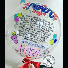 FELIZ CUMPLEAÑOS AMOR!!! Que tal se ve este lindo mensaje en el globo burbuja😍😍 #balloon #globos #burbuja #regalo #sorpresa #detalles… Ideas Aniversario, Breakfast Basket, Letter Balloons, Diy Letters, Mom Birthday, Creative Gifts, Diy And Crafts, Bubbles, Birthdays