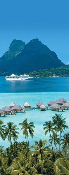Bora Bora, French Polynesia. Click to shop Matthew Williamson beachwear.