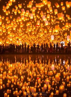 Sky Lantern Festival, Taiwan (I want to take part in one of these before I die.)