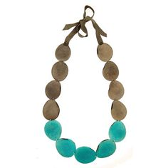 Mujus: Misti Necklace Teal, at 21% off!