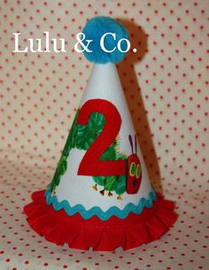 Very Hungry Caterpillar inspired Lulu & Co. party hat
