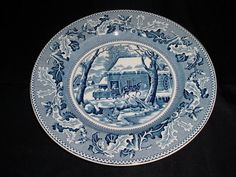 Johnson Bros Blue Wht Transferware Historic America 10.5 Service Charger Plate #JohnsonBrothers Johnson Brothers China, Johnson Bros, Charger Plates, China Dinnerware, My Ebay, Decorative Plates, Blue And White, America, Usa