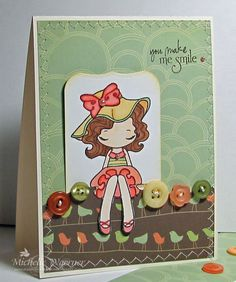'You Make Me Smile' card by Michelle Woerner