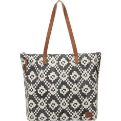 Toms Cosmopolitan Textile Zip Tote (92 CAD) ❤ liked on Polyvore featuring bags, handbags, tote bags, evening purses, print tote, handbag tote, evening handbags and pattern tote bag