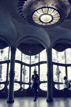Casa Batllo by Antonio Gaudi in Barcelona, Spain. Built 1904-6