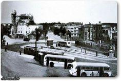 Şişli meydanı (Şişli camii henüz inşaat halinde) 1947