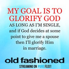 This Valentine's Day, choose to glorify God instead of worldly symbols of love. Check out 'Old Fashioned' for more #Inspiration: https://offers.pureflix.com/old-fashioned-trailer?utm_campaign=Old%20Fashioned&utm_medium=social&utm_source=pinterest