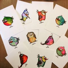Jo Ann D.:  Tim Holtz Bird Crazy; Distress Inks; Zig Clean Color Brushes