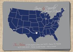 Moving Announcement  Custom Printable Announcement by 312INK