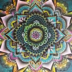 Cell - Sacred Geometry Mandala - Acrylic Visionary art painting from JungleSpirits on Etsy. Sacred Geometry Art, Sacred Art, Mural Art, Wall Art, Murals, Wall Decor, Visionary Art, Fractals, Amazing Art
