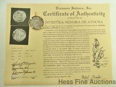 Genuine Atocha Large 8 Reale Philip III Shipwreck Coin 14k Gold Pendant #Pendant
