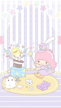 Sanrio Wallpaper, Star Wallpaper, More Wallpaper, Kawaii Wallpaper, Iphone Wallpaper, Kawaii Room, Kawaii Art, Cute Lockscreens, Hello Kitty My Melody
