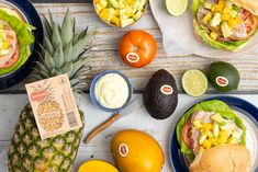 Grilled Tuna Steaks, Funky Fruit, Tuna Burgers, Mango Salsa Recipes, Hamburger Buns, Recipe Search, Backyard Bbq, Pineapple