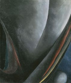 Georgia O'Keeffe (American, 1887-1986), Abstraction, Blind I, 1921. Oil on canvas, 71 x 61 cm.